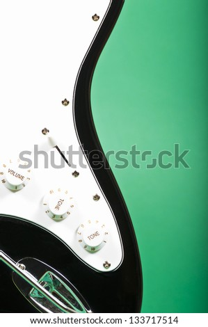 Electric guitar detail