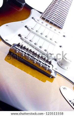 Electric Guitar headstock isolated on white/Electric Guitar headstock