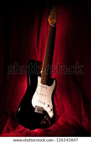 electric guitar in the darkness