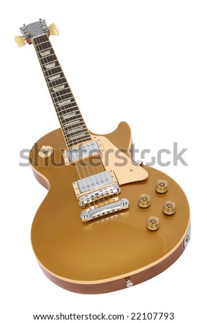 Electric guitar isolated on white.
