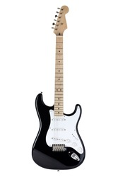 Electric guitar isolated over white background