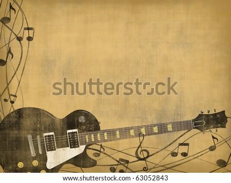 electric guitar les paul vintage background