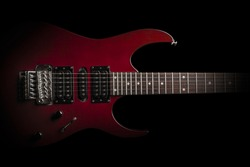 electric guitar on black background
