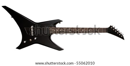 electric guitar with clipping path