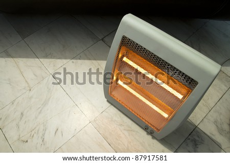 Electric heater close up