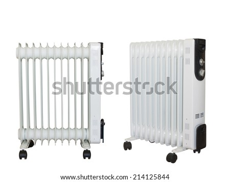 Electric heating,isolated on white background. #214125844