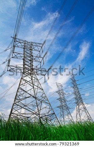 electric high voltage power post