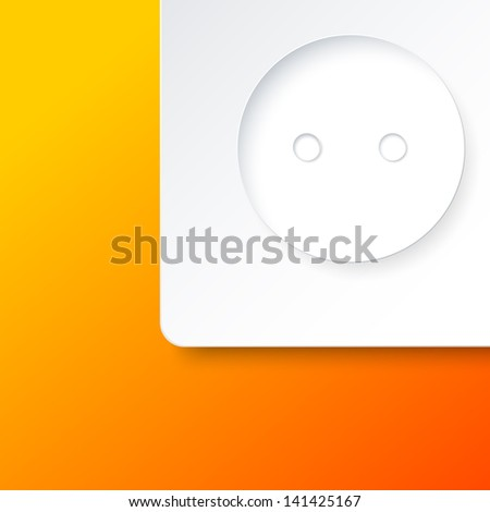 Electric household outlet. Isolated  illustration