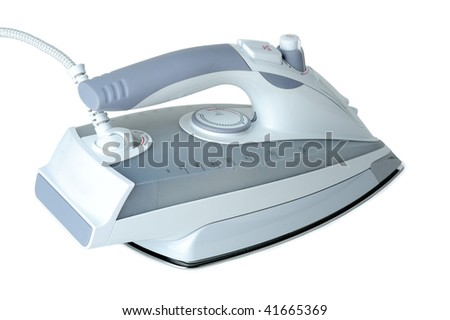 Electric iron isolated on white