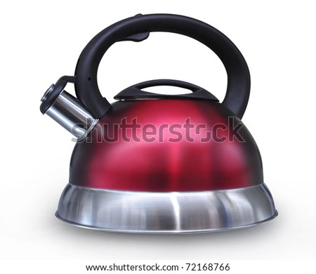 Electric kettle was isolated on a white background