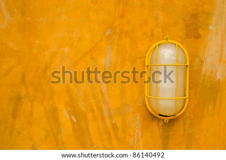 Electric Lantern Table Lamps on Electric Lamp On Old Yellow Wall Stock Photo 86140492   Shutterstock