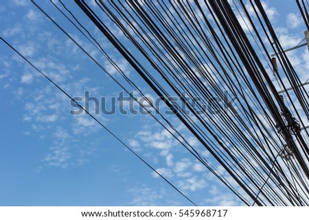 electric lines and sky #545968717