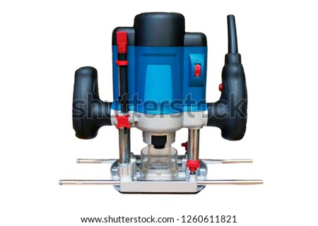Electric milling machine for home handyman use, isolated over white