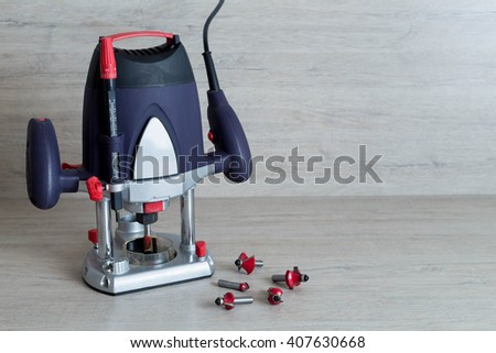 Electric milling machine for home handyman use on lighten background