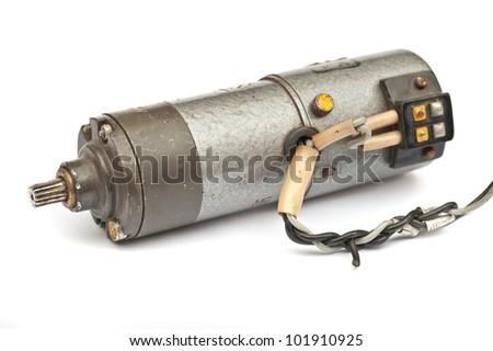 Electric motor DC on a white background
