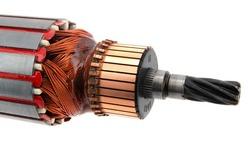 Electric motor rotor close up