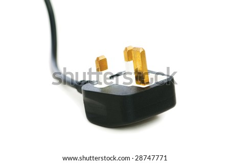 Electric plug isolated on the white background