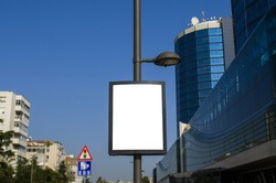 electric pole and advertising