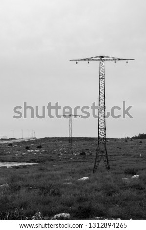 Electric pole photography  #1312894265