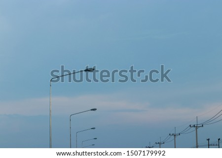 Electric poles and light poles