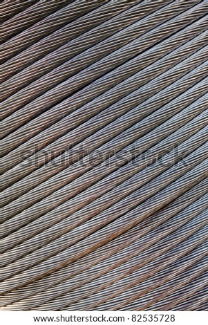 Electric power aluminum wire reeled on bobbin