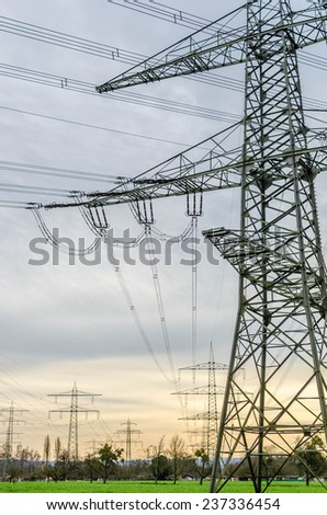 Electric power cable tower