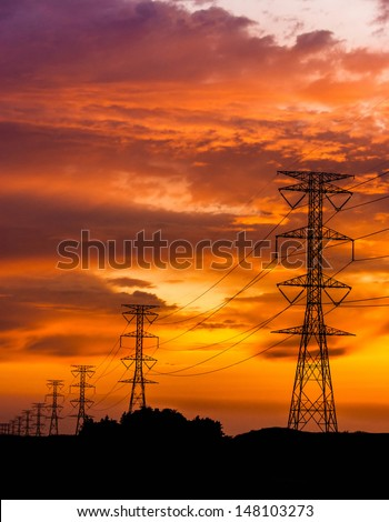 Electric Power Lines and High power transmission line. Smart Grid