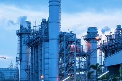 Electric power plant and steel pipe equipment of oil refinery