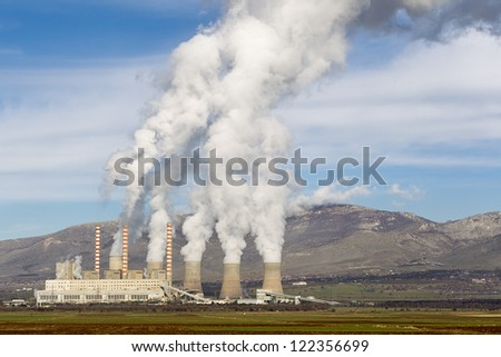 Electric power plant in Kozani Greece