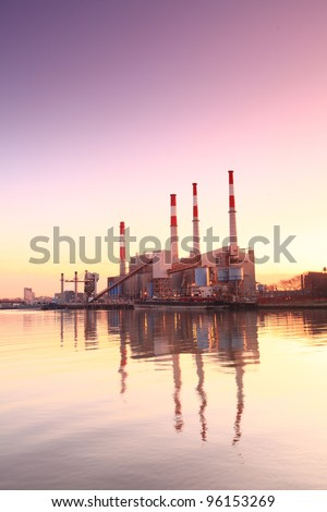 Electric Power Plant, New York city, USA - stock photo