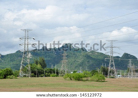 Electric power station in the field
