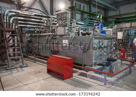 electric power station inside