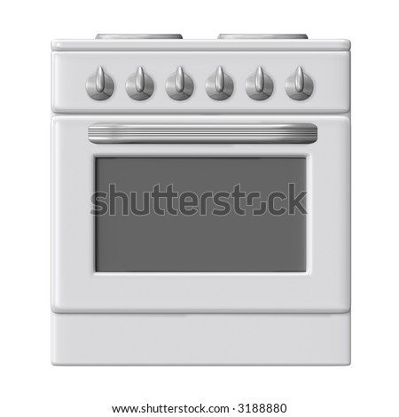 electric range front view
