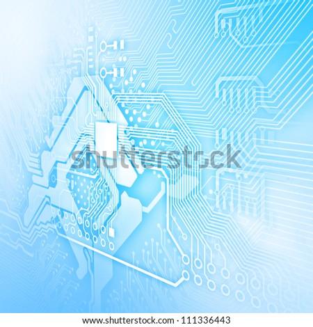 Electric scheme for design use. Colour illustration