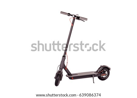 Electric scooter isolated on white background. eco alternative transport concept.