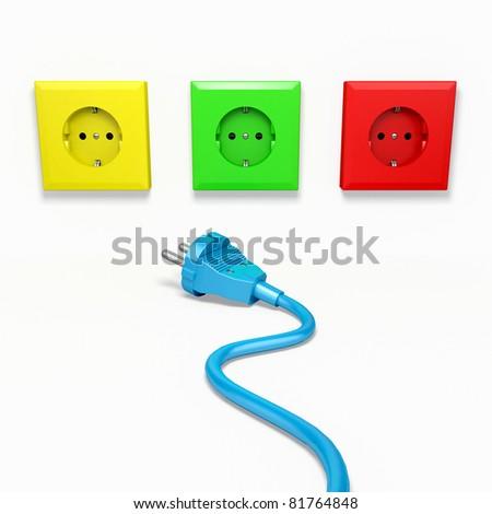 Electric socket - stock photo