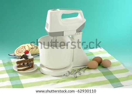Electric stand mixer on a table