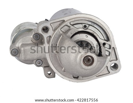 Starter motor car on a white background Images and Stock