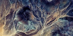 electric storm,  abstract photography of the deserts of Africa from the air. aerial view of desert landscapes, Genre: Abstract Naturalism, from the abstract to the figurative, contemporary photo art