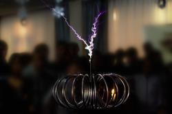 electric Tesla invention. coil current lightning strike