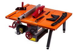 Electric tile cutter on a white background