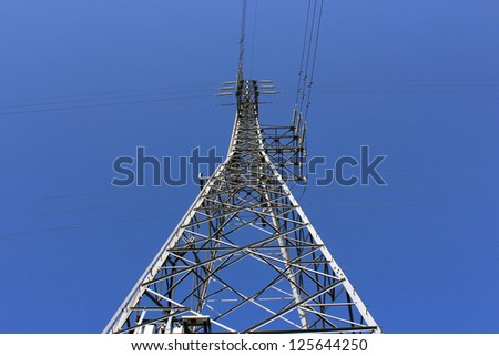 electric tower nuclear plant