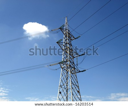 Electric transmission line tower mast