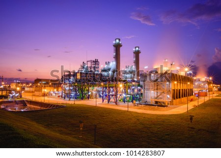 Electric turbine generator in power plant with twilight time