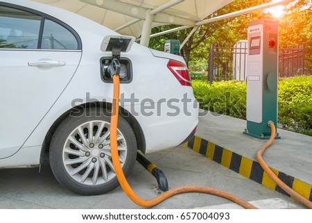 Electric vehicle charging station  #657004093