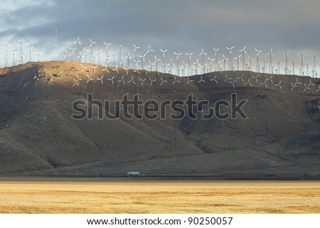 Electric Wind Mill Farm in California