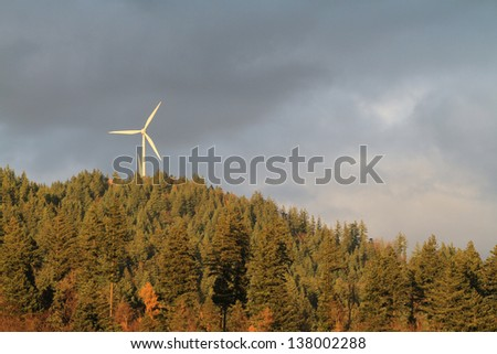electric wind mill in black forest