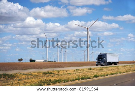 Electric Wind Turbines in Sweetwater,Texas.
