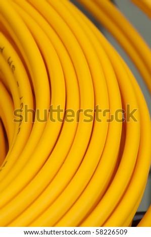Electric wire closeup
