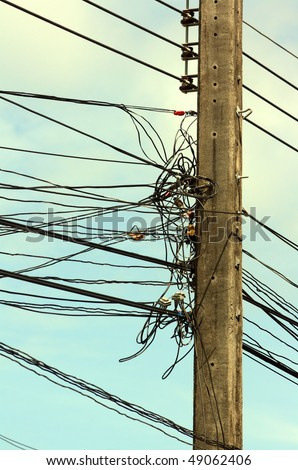 Electric wires in a mess